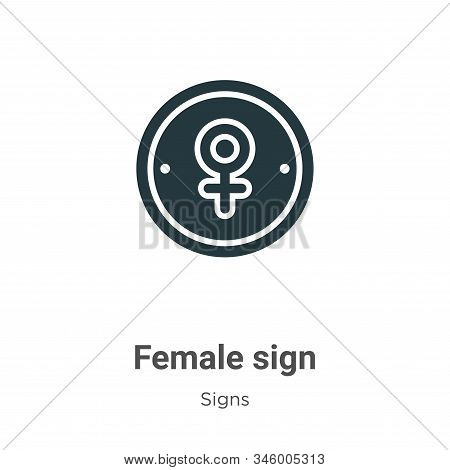 Female sign icon isolated on white background from signs collection. Female sign icon trendy and mod