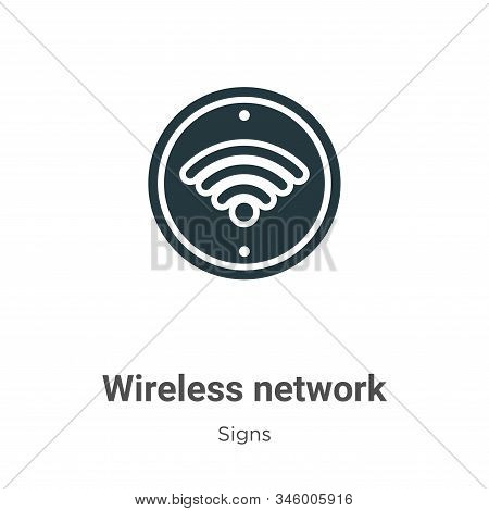 Wireless network icon isolated on white background from signs collection. Wireless network icon tren