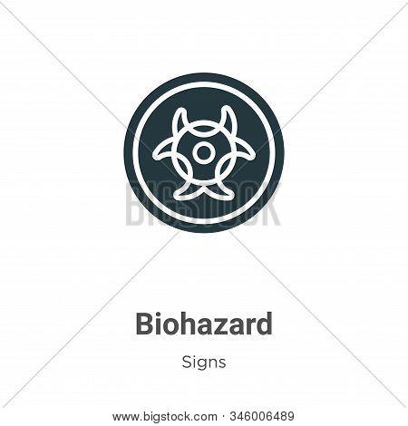 Biohazard symbol icon isolated on white background from signs collection. Biohazard symbol icon tren