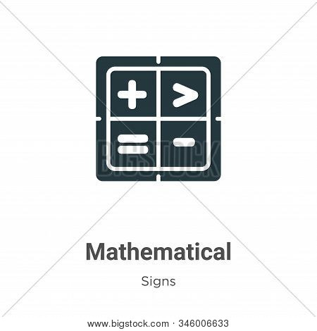 Mathematical symbols icon isolated on white background from signs collection. Mathematical symbols i