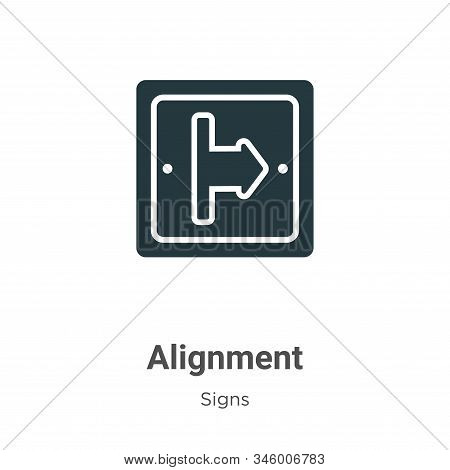 Alignment icon isolated on white background from signs collection. Alignment icon trendy and modern