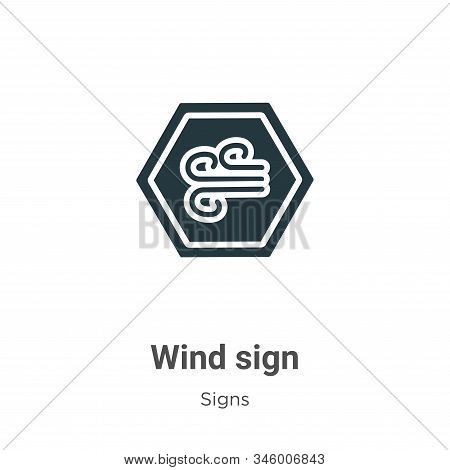 Wind sign icon isolated on white background from signs collection. Wind sign icon trendy and modern