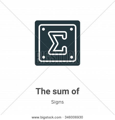 The Sum Of Vector Icon On White Background. Flat Vector The Sum Of Icon Symbol Sign From Modern Sign