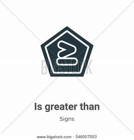 Is Greater Than Vector Icon On White Background. Flat Vector Is Greater Than Icon Symbol Sign From M