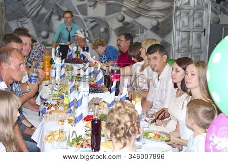 Chernihiv / Ukraine. 27 August 2016:  Festive Table With Delicious Dishes. Many Food On Table For Fa