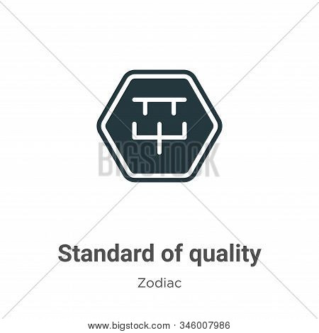 Standard of quality icon isolated on white background from zodiac collection. Standard of quality ic