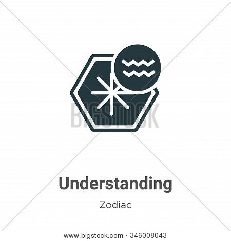 Understanding icon isolated on white background from zodiac collection. Understanding icon trendy an