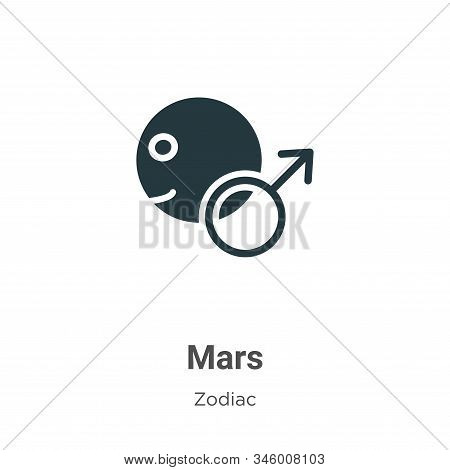Mars icon isolated on white background from zodiac collection. Mars icon trendy and modern Mars symb