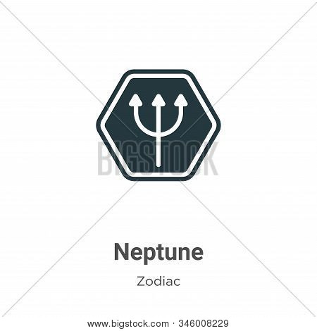 Neptune icon isolated on white background from zodiac collection. Neptune icon trendy and modern Nep