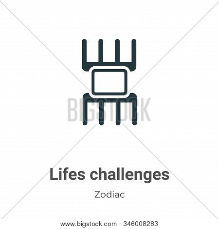 Lifes Challenges Vector Icon On White Background. Flat Vector Lifes Challenges Icon Symbol Sign From