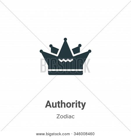 Authority icon isolated on white background from zodiac collection. Authority icon trendy and modern