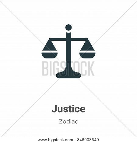 Justice icon isolated on white background from zodiac collection. Justice icon trendy and modern Jus