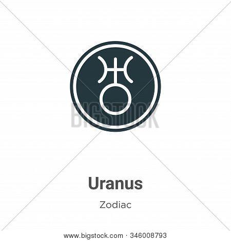 Uranus icon isolated on white background from zodiac collection. Uranus icon trendy and modern Uranu
