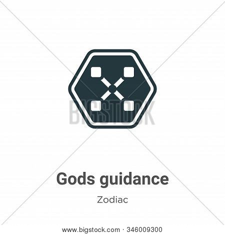 Gods Guidance Vector Icon On White Background. Flat Vector Gods Guidance Icon Symbol Sign From Moder
