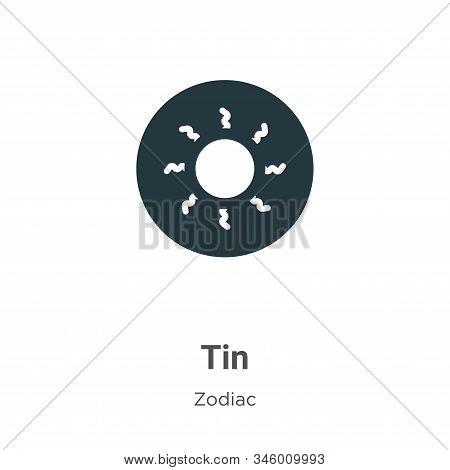 Tin icon isolated on white background from zodiac collection. Tin icon trendy and modern Tin symbol