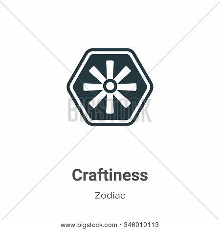 Craftiness icon isolated on white background from zodiac collection. Craftiness icon trendy and mode