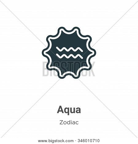 Aqua icon isolated on white background from zodiac collection. Aqua icon trendy and modern Aqua symb