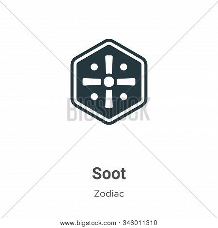 Soot icon isolated on white background from zodiac collection. Soot icon trendy and modern Soot symb
