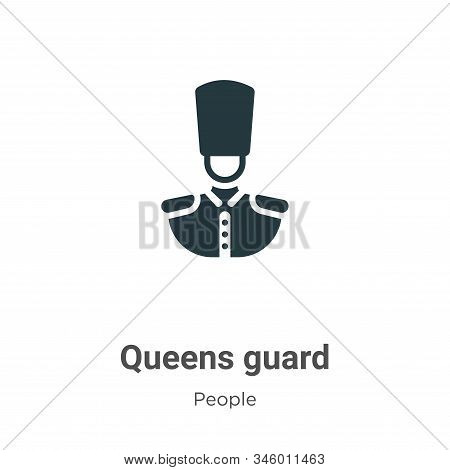 Queens guard icon isolated on white background from people collection. Queens guard icon trendy and