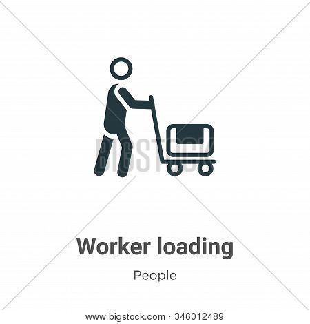 Worker loading icon isolated on white background from people collection. Worker loading icon trendy