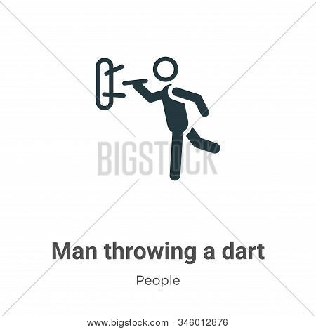 Man throwing a dart icon isolated on white background from people collection. Man throwing a dart ic