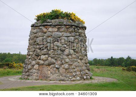 Culloden battle field memorial