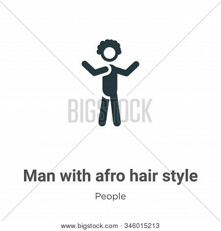 Man with afro hair style icon isolated on white background from people collection. Man with afro hai