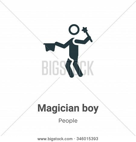 Magician boy icon isolated on white background from people collection. Magician boy icon trendy and