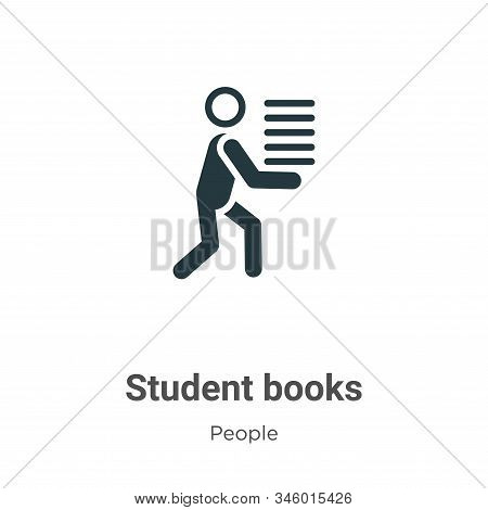 Student books icon isolated on white background from people collection. Student books icon trendy an
