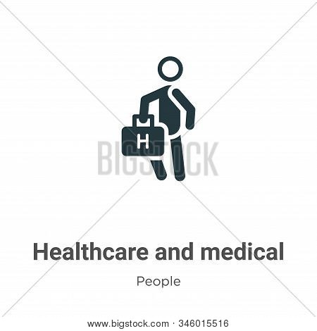 Healthcare and medical icon isolated on white background from people collection. Healthcare and medi