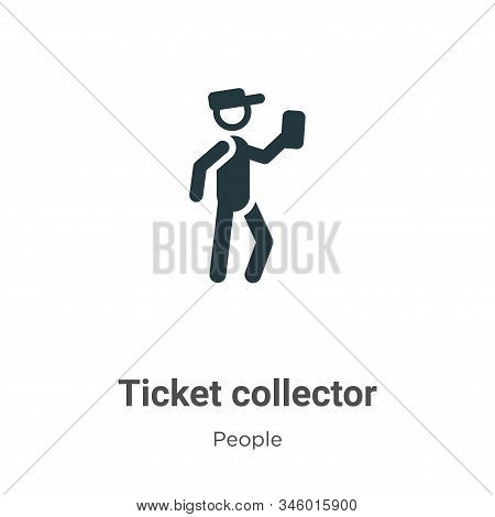 Ticket collector icon isolated on white background from people collection. Ticket collector icon tre