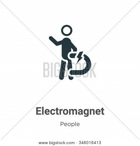 Electromagnet icon isolated on white background from people collection. Electromagnet icon trendy an