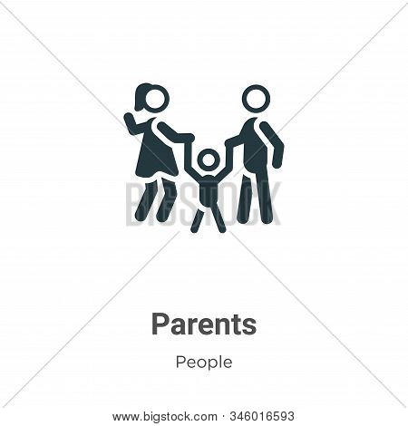 Parents icon isolated on white background from people collection. Parents icon trendy and modern Par