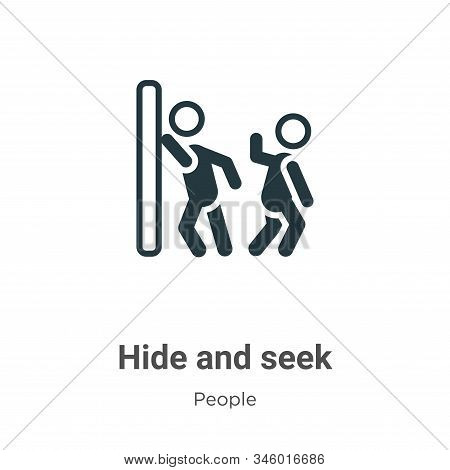 Hide And Seek Vector Icon On White Background. Flat Vector Hide And Seek Icon Symbol Sign From Moder