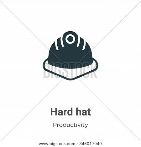 Hard hat icon isolated on white background from productivity collection. Hard hat icon trendy and mo