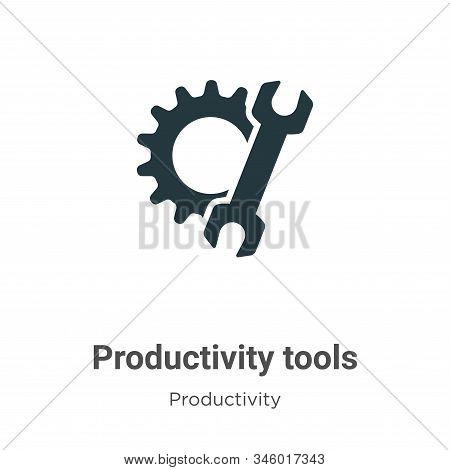Productivity tools icon isolated on white background from productivity collection. Productivity tool