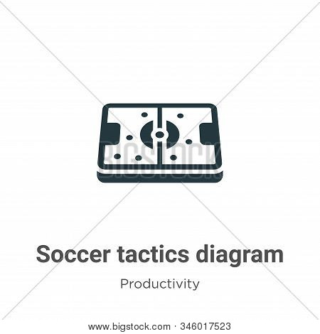 Soccer Tactics Diagram Vector Icon On White Background. Flat Vector Soccer Tactics Diagram Icon Symb