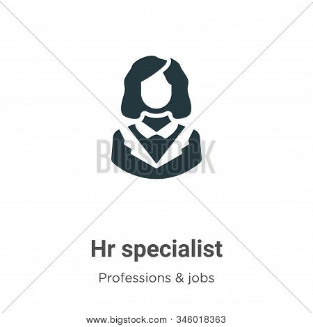 Hr Specialist Vector Icon On White Background. Flat Vector Hr Specialist Icon Symbol Sign From Moder