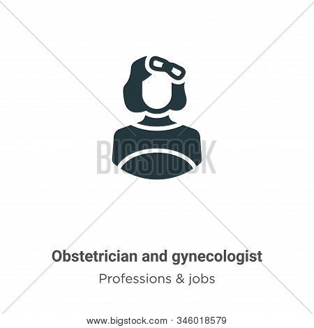 Obstetrician and gynecologist icon isolated on white background from professions collection. Obstetr