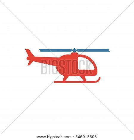Helicopter Icon. Flat Creative Element From Airport Icons Collection. Colored Helicopter Icon For Te
