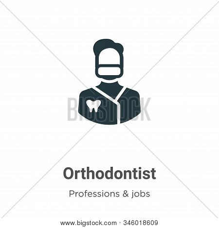 Orthodontist icon isolated on white background from professions collection. Orthodontist icon trendy