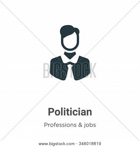 Politician Vector Icon On White Background. Flat Vector Politician Icon Symbol Sign From Modern Prof