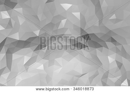 Repeat Geometric Triangle Mosaic Gradient, Visualization 3D Render Abstraction Pattern, Nice Backgro