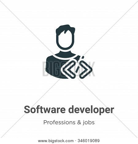 Software developer icon isolated on white background from professions collection. Software developer