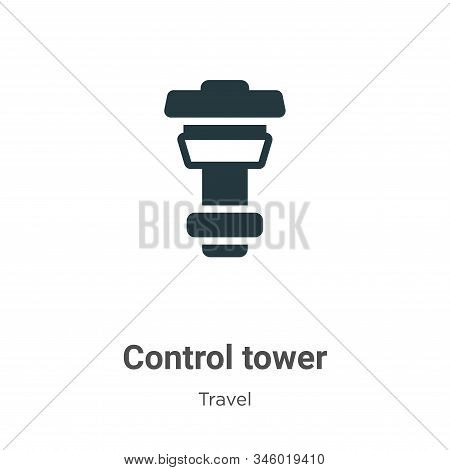 Control tower icon isolated on white background from travel collection. Control tower icon trendy an