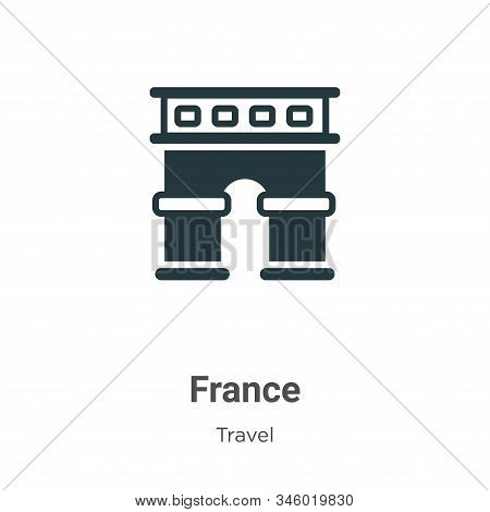 France icon isolated on white background from travel collection. France icon trendy and modern Franc