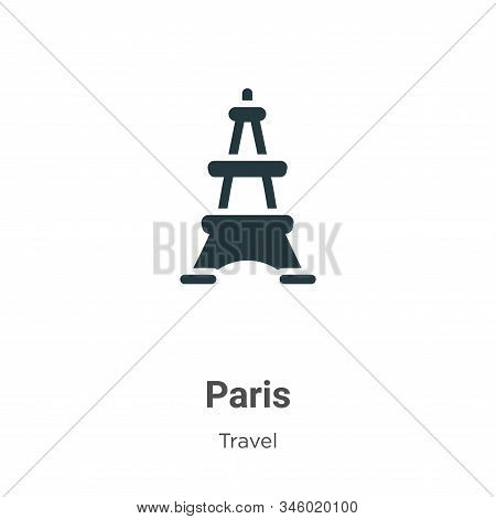 Paris icon isolated on white background from travel collection. Paris icon trendy and modern Paris s