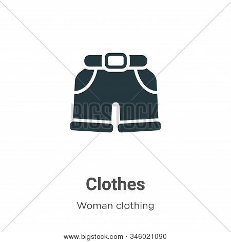 Clothes icon isolated on white background from woman clothing collection. Clothes icon trendy and mo