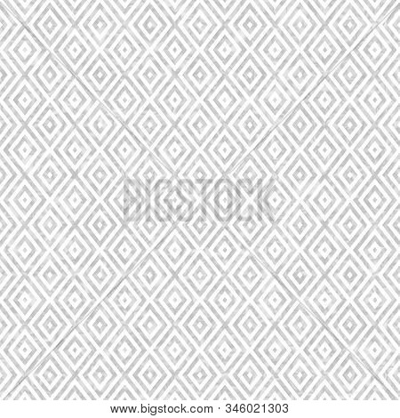 Gray Concentric Diamonds Abstract Geometric Seamless And Repeat Textured Pattern Background 3d Illus