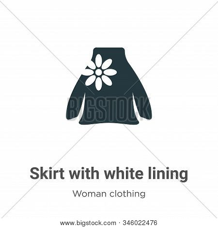 Skirt with white lining icon isolated on white background from woman clothing collection. Skirt with